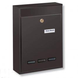 Anlagen-Briefkasten Köln Format DIN B5, braun