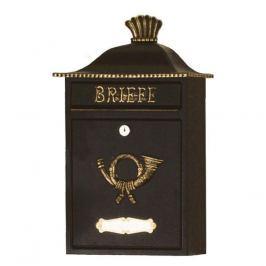 Ansehnlicher Briefkasten MARENO schwarz-gold