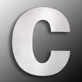 Edelstahl-Hausnummern  groß  - Buchstabe c