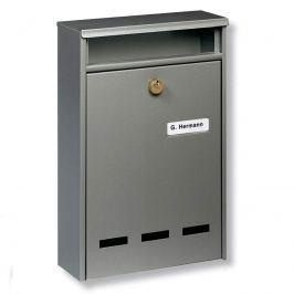 Standard Anlagen-Briefkasten WISMAR B5, grau