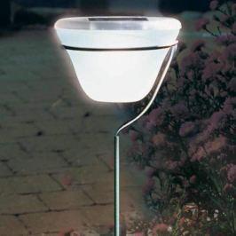 Design Solar Steckleuchte Edelstahl