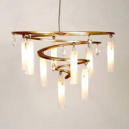 Einzigartige LED-Hängeleuchte Spirale, 9-flg. gold