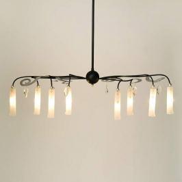 Achtflammige LED-Hängeleuchte Casino Oval