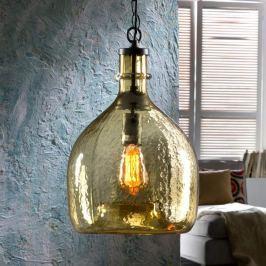 Glas-Hängeleuchte Laia im Retrolook, amber