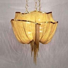 Terzani Atlantis, goldene Hängeleuchte 90 cm