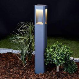 Anthrazitfarbene LED-Wegeleuchte Annika