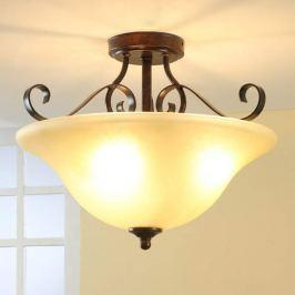 Deckenlampe Svera in Rostoptik mit LEDs