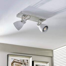 Zweiflammiger LED-Strahler Kadiga aus Beton, GU10