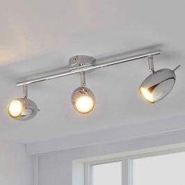 3-flammige LED-Deckenlampe Philippa, verchromt