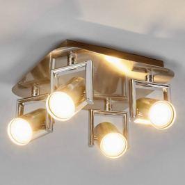 Nickelfarbener LED-Küchenstrahler Luciana, 4-fl.