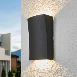 2-flammig leuchtende LED-Außenwandlampe Jiline