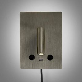 Flexible LED-Wandlampe Manat, Nickel satiniert