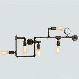 Wandlampe Amarcord im rostigen Rohr-Design