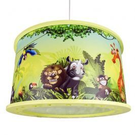 Kinder-Hängeleuchte Wildnis mit Dschungelmotiv