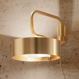 Sound - goldene Wandleuchte mit Kabel u. Stecker