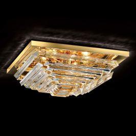 Vergoldete Kristalldeckenleuchte Losanghe, 55 cm