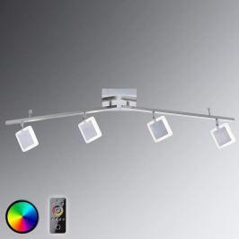 4-flammiger LED-Deckenspot Vidal mit Fernbedienung
