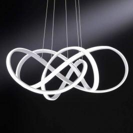 Helle LED-Pendellampe Art in verschlungenem Design