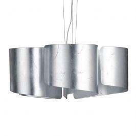 Schwungvolle Glas-Pendelleuchte Imagine - silber
