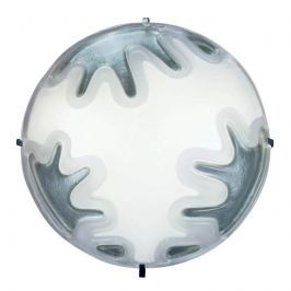 Kundalini Mandala - runde Wandleuchte silber