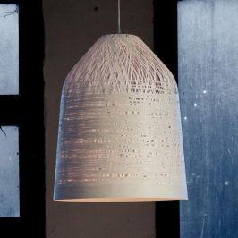 Karman Black Out - weiße Pendellampe, 50 cm