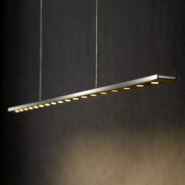 LED-Pendelleuchte Anax 135 cm lang silber glänzend