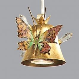 Ansprechende Hängeleuchte Farfalla, gold