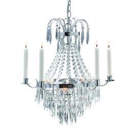 Schöner Kerzen-Kronleuchter Krageholm, chrom