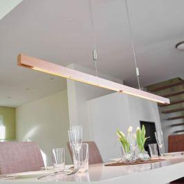 Eichenholz-LED-Balkenpendellampe Nora - 158 cm