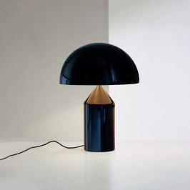 Oluce Atollo - Tischleuchte in Schwarz, 35 cm