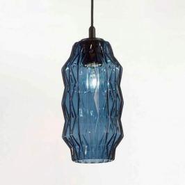 Elegante Glas-Pendelleuchte Origami blau