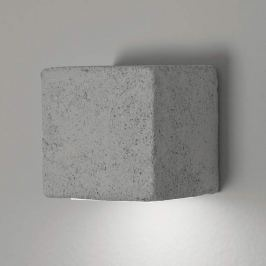 Außenwandleuchte Smith mit LED, Würfelf., grau, uw