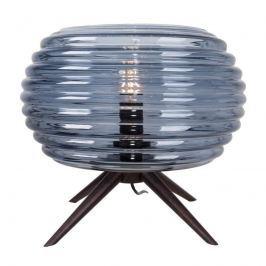 Glas-Tischleuchte Anil mit Rauchglas