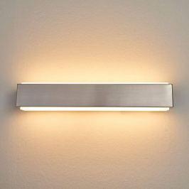 Nickelfarbene LED-Wandlampe Quentis, 40 cm