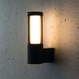 Anthrazitfarbene LED-Außenwandleuchte Palma