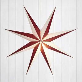 Dekorativer Papierstern Alva rot-weiß