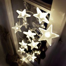 Ansprechende LED-Sternen-Lichterkette matt 2m