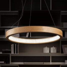 Natürliche LED-Hängeleuchte Libe Round, 90 cm