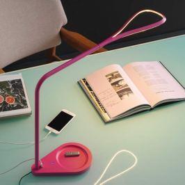 Fontana Arte Kinx - pinkfarbene LED-Tischleuchte