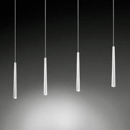 Vierflammige LED-Hängeleuchte Lucid nickel-matt