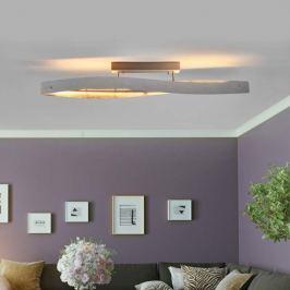 Silbern glänzende LED-Deckenlampe Lian - dimmbar