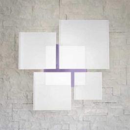 Imposante Deckenleuchte QUADRIFOGLIO 8050, violett