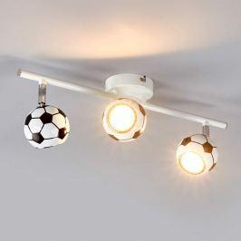 3-flg. Fußball-Deckenleuchte Play mit LED-Licht