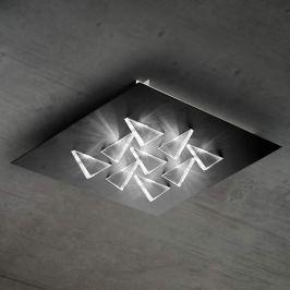 Funkelnde LED-Deckenleuchte Cristalli, schwarz