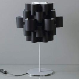 Ausgefallene Designer-Tischleuchte Sun in Schwarz