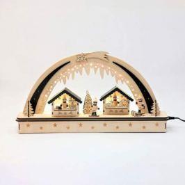 Dekorativer LED-Schwibbogen Weihnachtsmarkt