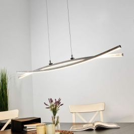 Grazile LED-Pendelleuchte Florentina in Silber