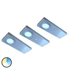3er-Set LED-Unterbauleuchte Tain mit Color Switch
