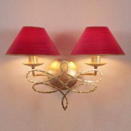 Menzel Sorent - Wandlampe mit roten Schirmen 2flg.