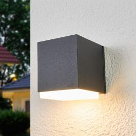 Bega - würfelförmige Außenwandlampe Ben, abwärts